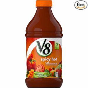 V8 Spicy Hot 100% Vegetable Juice, 46 oz. Bottle (Pack of 6)
