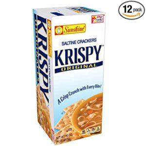 Krispy, Saltine Crackers, Original, 16 oz(Pack of 12)