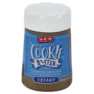 HEB Cookie Butter, Creamy 13.4 Oz (Pack of 2)