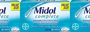 Midol Complete Menstrual Period Symptoms Relief Caplets, 120 Count