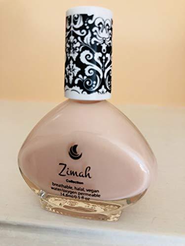 Zimah Nail Polish, Breathable, Vegan Nail Polish, Cruelty-Free, Toxin Free, Halal Nail Polish, Fast-Drying Nail Polish, Made in USA, Tea Rose.