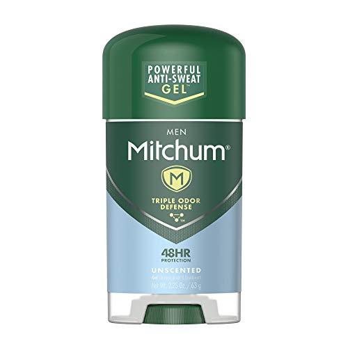 Mitchum Men Gel Antiperspirant Deodorant, Unscented, 2.25oz.