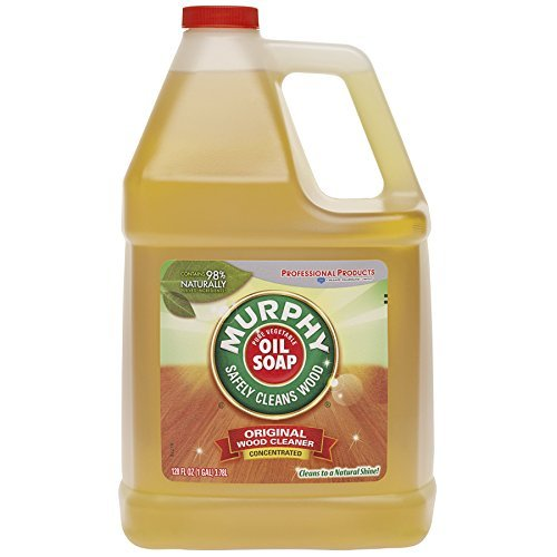 MURPHY OIL SOAP Wood Cleaner, Original, Concentrated Formula, Floor Cleaner, Multi-Use Wood Cleaner, Finished Surface Cleaner, 128 Fluid Ounce
