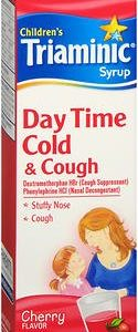 Product Of Triaminic, Childrens Day Time Cold & Cough Cherry Syrup (Red), Count 1 - Cough Syrup/ Cold Liquid / Grab Varieties & Flavors