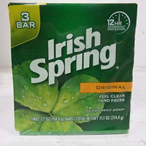 Irish Spring Deodorant Bar Soap, Original, 3.75 oz bars, 3 ea (Pack of 11)