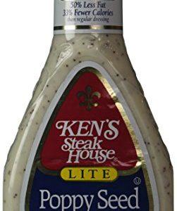 Ken's Steak House Lite Poppy Seed Dressing, 16 Ounce