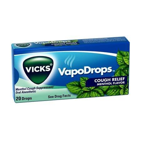 Vicks VapoDrops 20's Menthol - Case of 12