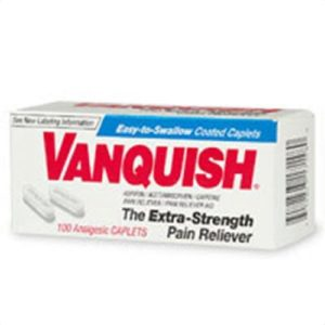 Vanquish Extra Strength Pain Reliever Caplets-100 ct. (Quantity of 4)