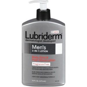 Lubriderm Mens 3 in 1 Fragrance Free Lotion,16 Fluid Ounce -- 12 per case.