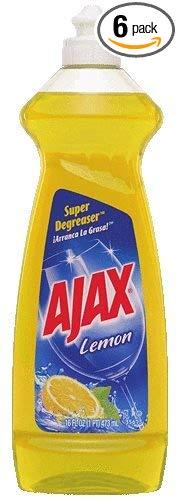 Ajax Dish Liquid, Lemon, 16 Ounce (Pack of 6)