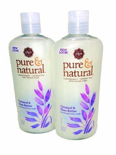Pure & Natural Body Wash Soothing Oatmeal & Shea Butter 16 fl oz (Pack of 2)