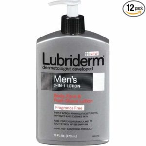 Lubriderm Mens 3 in 1 Fragrance Free Lotion,16 Fluid Ounce - 12 per case.