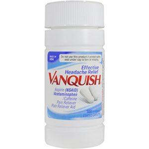 Vanquish Headache Relief, Acetaminophen, Aspirin, Caffeine, 100 Caplets