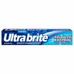 Ultra brite Advanced Whitening Toothpaste Clean Mint 6 oz (Pack of 2)