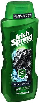 Irish Spring Body Wash With Charcoal Pure Fresh - 18 oz, Pack of 4