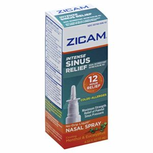 Zicam Intense Sinus Relief No-drip Liquid Nasal Spray with Cooling Menthol & Eucalyptus, 0.5 Ounce