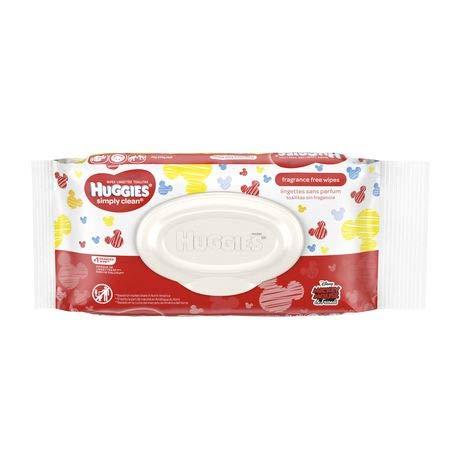 Huggies Huggies Simply Clean Fragrance-Free Baby Wipes (Pack of 24)