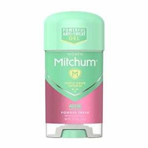Lady Mitchum Women Gel Antiperspirant Deodorant, Powder Fresh, 2.25oz.