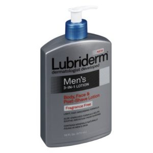 Lubriderm Mens 3in1 Body, Face & Post-Shave Lotion Fragrance Free
