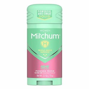 Mitchum Women Stick Solid Antiperspirant Deodorant, Powder Fresh, 2.7oz.