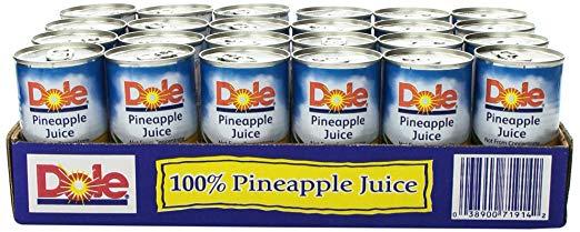 Dole Pineapple Juice, 144 Fluid Ounce