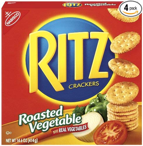 Ritz Crackers, Roasted Vegetable, 14.6-Ounce (Pack of 4)