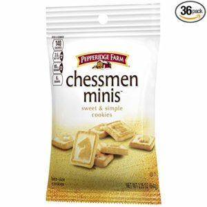 Pepperidge Farm Chessmen Minis Butter Cookies, Snack Pack, 2.25 oz. (Pack of 36)