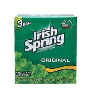 Irish Spring Deodorant Soap Original Bar, 3 Count 3.75 Ounce, 4 Packs, Total 12 Bars