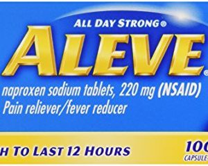 Aleve All Day Strong Pain Reliever, Fever Reducer, Caplet, 100 ct
