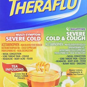 Theraflu MultiSymptom Severe Cold Relief Medicine/Nighttime Severe Cold & Cough Relief Medicine Powder, 12 Packets