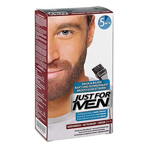 JUST FOR MEN Color Gel Mustache & Beard M-35 Medium Brown 1 ea