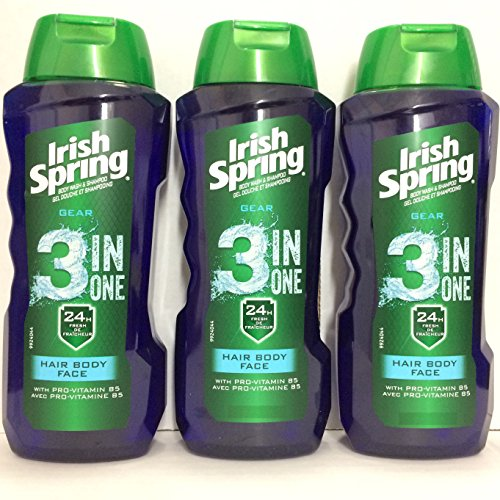 Irish Spring Gear 3-in-1 Body Wash, 15 Ounce (Pack of 3)