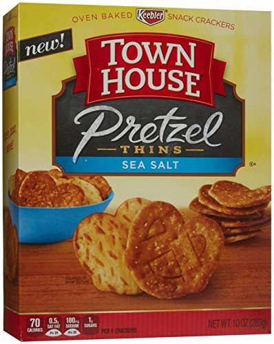 Town House Pretzel Thins Sea Salt Crispy Crackers, 10 oz