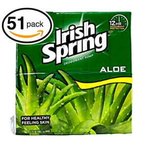 Irish Spring Bar Soap (51 Bars, 3.75oz Each Bar, Aloe)