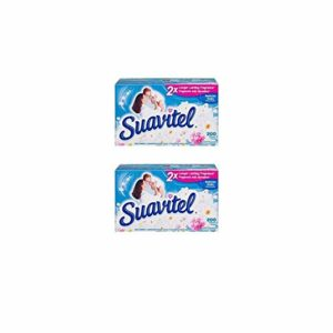 Suavitel Field Flowers Fabric Conditioner Dryer Sheets, 200 sheets 2 Pack