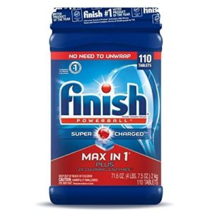 Finish Max in 1 Plus Super Charged 2X Dishwasher Detergent,110-Count, 71.6 Ounce ( 2 Pack)