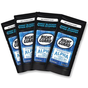 Right Guard Best Dressed Antiperspirant Deodorant Invisible Solid, Alpha, 2.6 Ounce (4 Count)