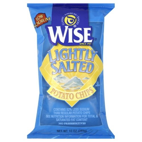 Wise Lightly Salted Potato Chips 9 Oz (Pack of 6) (Lightly Salted)