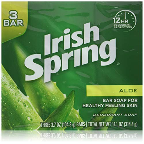 Irish Springs Aloe Bath Soap, 3.75 Oz. Bars, (2) 3 Bar Packages