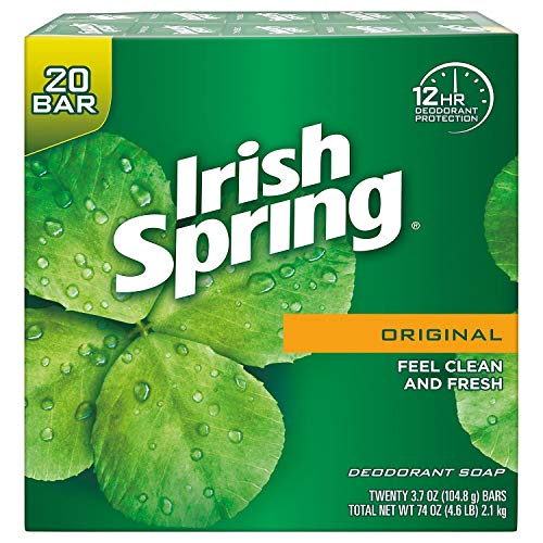 Irish Spring Original Bar Soap, 20 Count, 74 Ounce