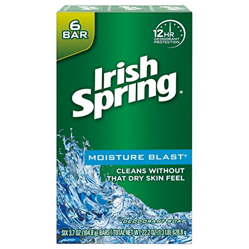 Irish Spring Moisture Blast Moisturizing bar Soap - 72Count (12 Pack of 6 bars)