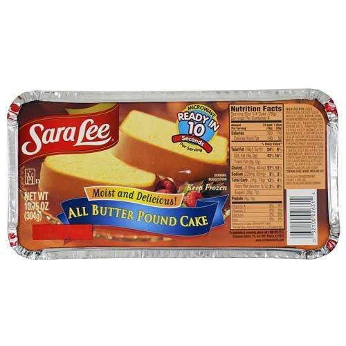 Sara Lee Pound Cake, 10.75 Ounce -- 12 per case.