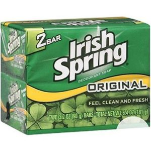 Irish Spring Original Deodorant Bar Soap, 3.20 oz bars, 2 ea