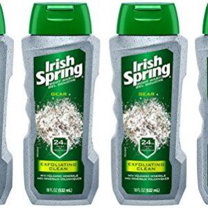 Irish Spring Gear Body Wash, Exfoliating Clean, 18 fluid ounce (Pack of 4)