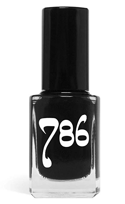 786 Cosmetics Java - (Black) Vegan Nail Polish, Cruelty-Free, 11-Free, Halal Nail Polish, Fast-Drying Nail Polish, Best Black Nail Polish