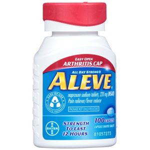 Aleve Easy Open Arthritis Cap Caplets with Naproxen Sodium, 220mg (NSAID) Pain Reliever/Fever Reducer, 100 Count