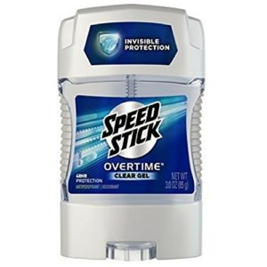 Speed Stick Overtime Clear Gel Deodorant, 3.0 oz (Pack of 3)