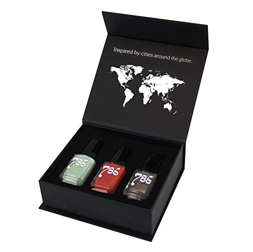 786 Cosmetics Africa-Inspired Nail Polish Gift Box - 3 Nail Polishes