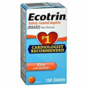 Ecotrin 81 Mg Low Strength Aspirin Tablets, 150 Count