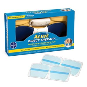 Aleve Direct Therapy TENS Device Value Pack (1 Device + 2 Pairs of Refill Gel Pads), Drug-Free, Wireless TENS Technology, Relieves Lower Back Aches & Pains from Exercise, Household, Work Activities.